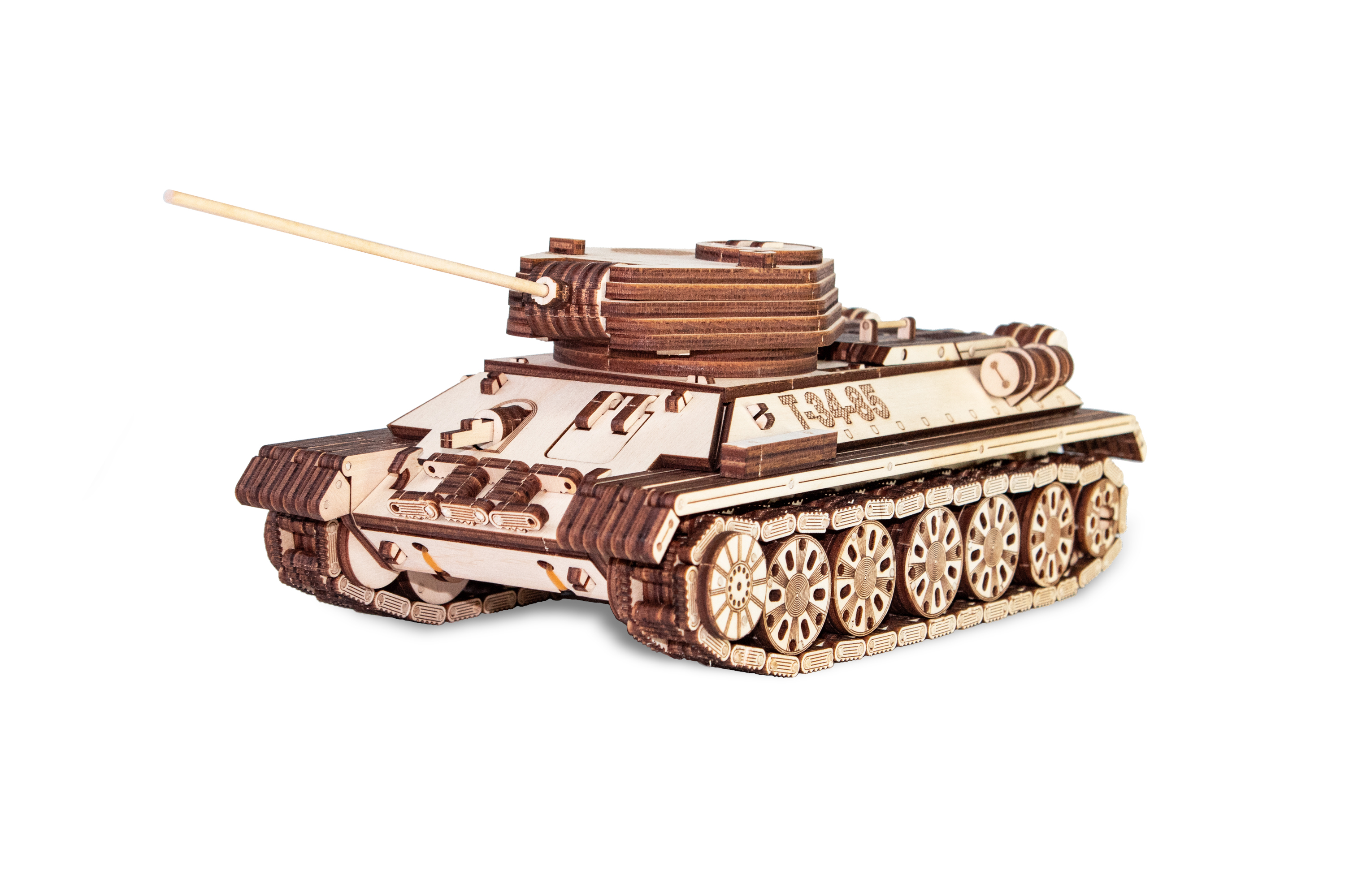 Tank T-34 Eco Wood Art Wooden Models